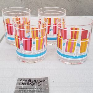 Vintage Beach Chair Design Plastic Cup 4 Pack 1982 for Sale in Los Angeles, CA