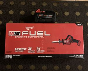 Milwaukee FUEL M18 brushless Hackzall with 1 XC 5.0 battery NO CHARGER for Sale in Miami, FL