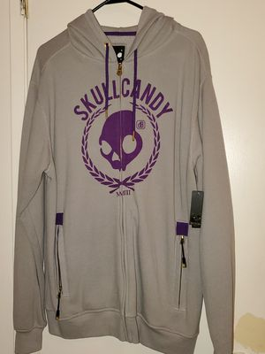 Skullcandy Zip Up Hoodie Mens sz large New for Sale in Bakersfield, CA