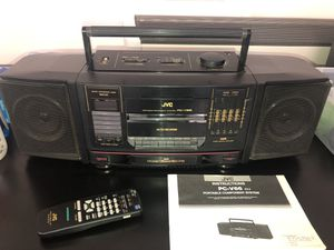 JVC PC-V66 Portable Component System Boom Box for Sale in San Diego, CA