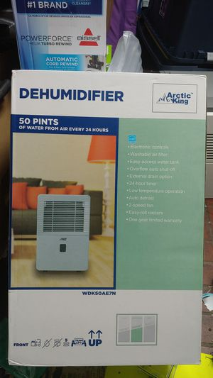 Arctic DEHUMIDIFIER 50 Pints of WATER from air every 24 hours for Sale in Houston, TX