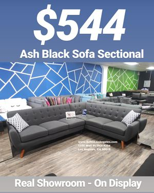 Ash Black Mid Century Style Couch Sofa Sectional for Sale in Los Angeles, CA