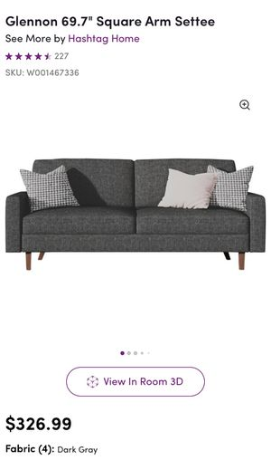 Gray Wayfair Couch in Box for Sale in Fort Worth, TX