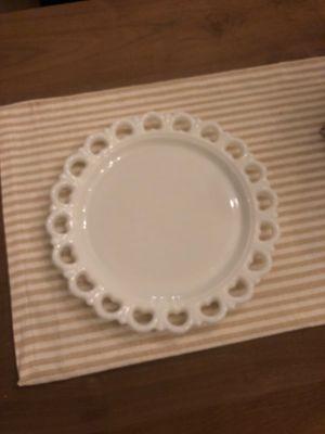 Milk glass plate for Sale in Naperville, IL