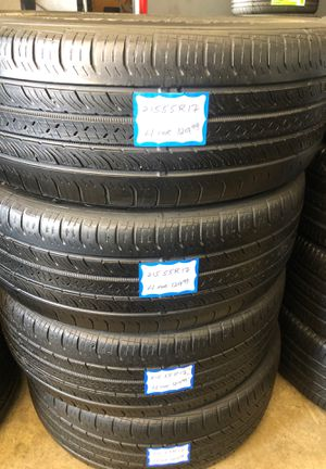 👨🏻🔧🚘SET OF 4 USED TIRES👨🏻🔧🚘 215/55/17 CONTINENTAL for Sale in Lakewood, CA