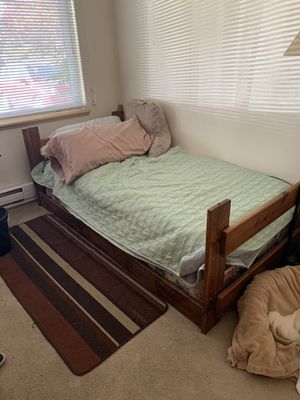 Twin bed frame, mattress & box spring for Sale in Lakewood, WA