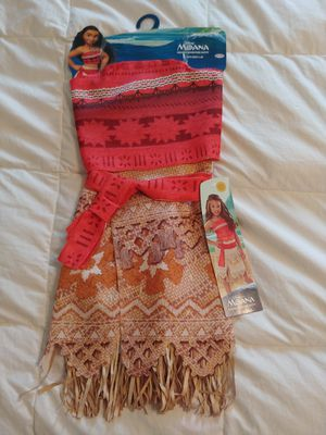 Brand New Little Girls Size 4 to 6 Moana Dress costume for Sale in Puyallup, WA