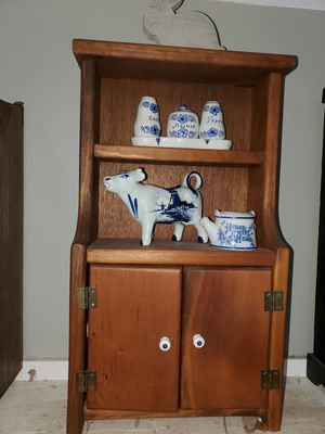 Antique salesman 's sample/spice cabinet for Sale in Pearland, TX