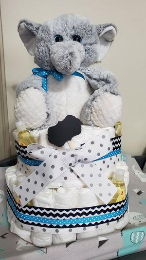 Baby diaper cake for Sale in Salt Lake City, UT