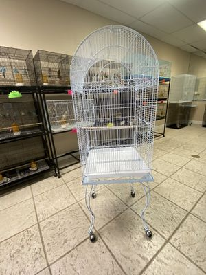 "Large bird cage with stand white or black 20x20x59"" for Sale in Hesperia, CA"