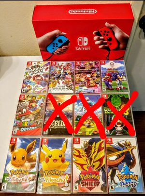 NINTENDO SWITCH NEON B/R V2 BRAND NEW SEALED WITH GAMES(PLEASE READ) for Sale in Escondido, CA