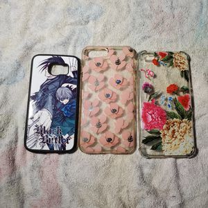 Black butler and floral phone cases flower, iphone , anime black butler samsung galaxy case phone for Sale in Williamsport, PA