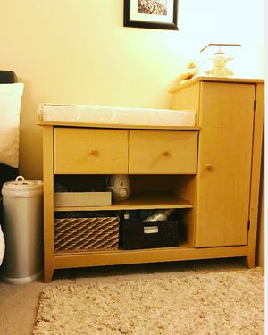 Changing cabinet with pad (new) without plastic for Sale in Shoreline, WA