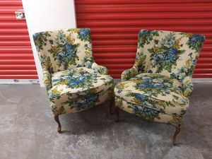 2 beautiful Antique chairs. Barely ever sat on. Like new. Excellent shape. 2 arm covers on each chairs. Highpoint N.C. Quality Furniture. $250.00 for Sale in Ocoee, FL