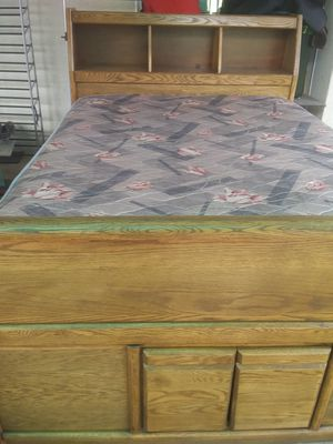 Queen Bed with Mattress for Sale in Visalia, CA