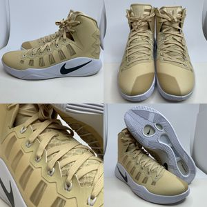 (Size 15) Nike Hyperdunk 2016 TB Promo Men's Basketball Shoes 856483 701 Gold Beige White for Sale in Euless, TX
