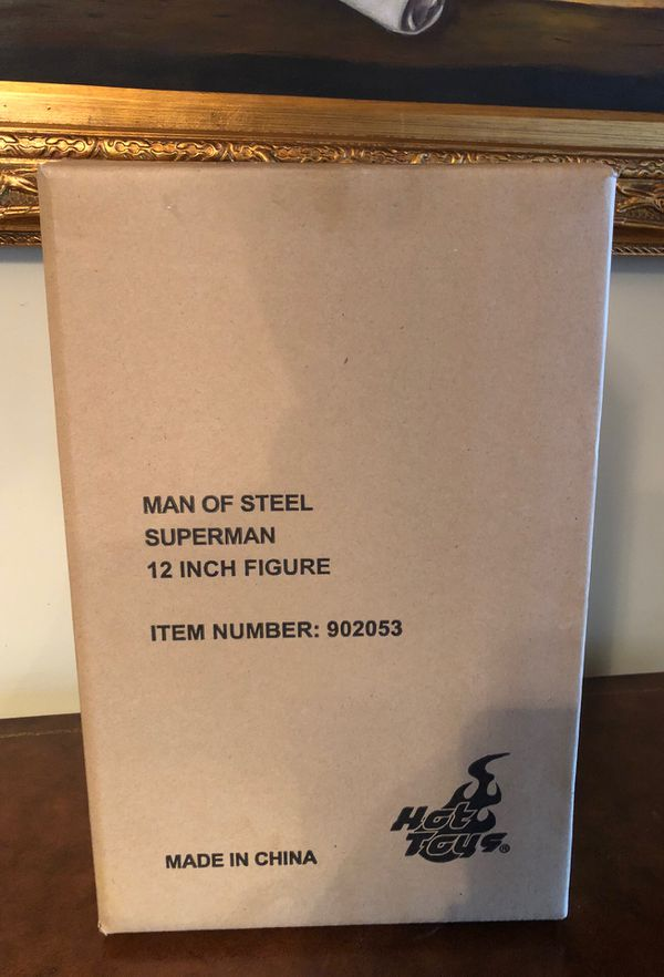 """SuperMan """" Man of Steel"""" 12 inch Hot toys Figure that has never been opened or damaged No low balling or I won't respond"""