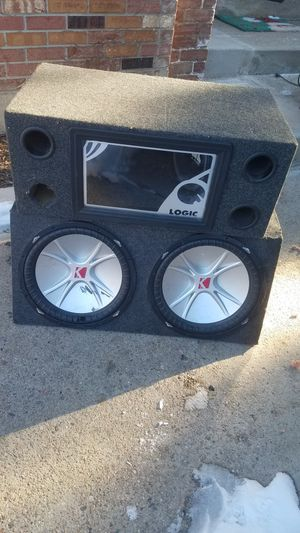 2 subwoofer enclosures. Kicker and JL for Sale in Englewood, CO