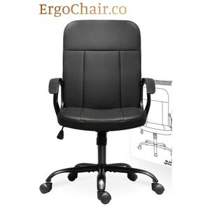 Professional Ergonomic Leather Office Computer Mid Back Chair for Sale in Kent, WA