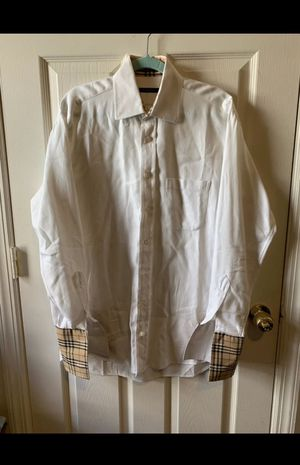 Burberry White Mens shirt size Small for Sale in Lilburn, GA