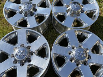 "2016 Dodge 2500 3500 OEM 18"" Polished Wheels Rims for Sale in Rocklin,  CA"
