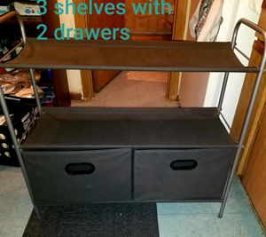 Fabric shelves (3 shelves with 2 drawers) for Sale in Irving, TX