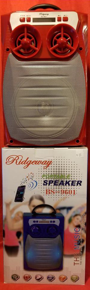 Rechargeable Bluetooth Wireless Speaker Sd Card,Usbflash Drive Fm Radio Speaker ( Bosina ) Bz2 for Sale in Moreno Valley, CA