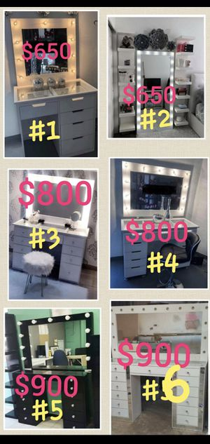 Now taking orders for these beautiful makeup vanities!!! for Sale in Orem, UT
