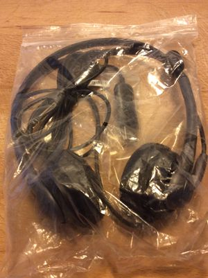 Black head phone set with mouth piece and connection. for Sale in Joliet, IL