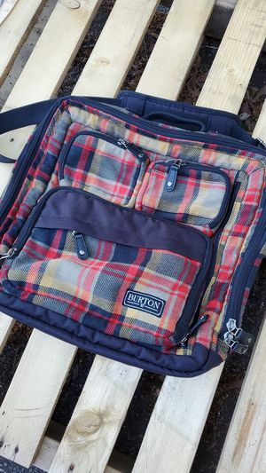 Perfect Shape Burton Messanger DJ Bag - Man Plaid for Sale in Greenville, SC