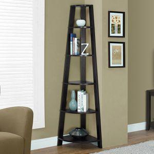 """BRAND NEW Monarch 72"""" 5-Shelf Corner Bookcase Etagere, Cappuccino for Sale in Hilliard, OH"""