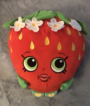 Shopkins Plush Pillow Buddy Strawberry - excellent for Sale in Sterling, VA
