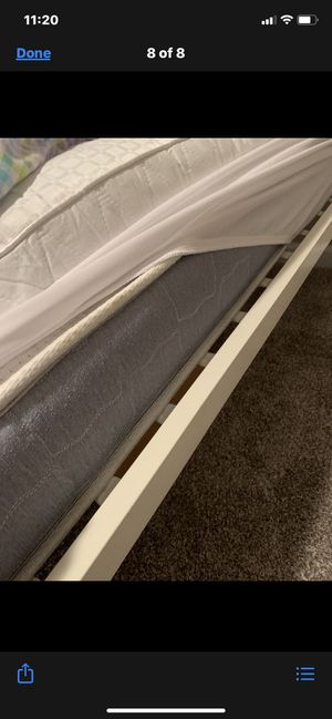 Solid metal twin bed frame with mattress for Sale in Dandridge, TN