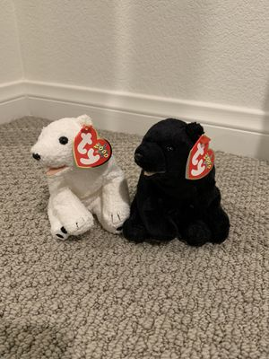 "Ty beanie baby bears ""aurora"" and ""cinders"" for Sale in Menifee, CA"