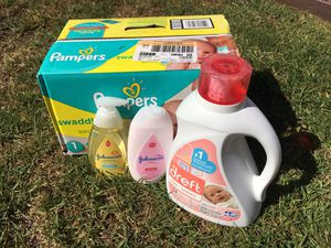 Baby Shower Bundle (Diapers/Detergent/Lotion/Wash) for Sale in Chula Vista, CA