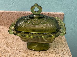 Vintage glass covered dish for Sale in Addison, TX