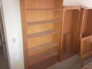 7 foot oak Library for Sale in Hemet, CA