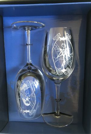 New Nightmare Before Christmas wineglass set for Sale in San Dimas, CA