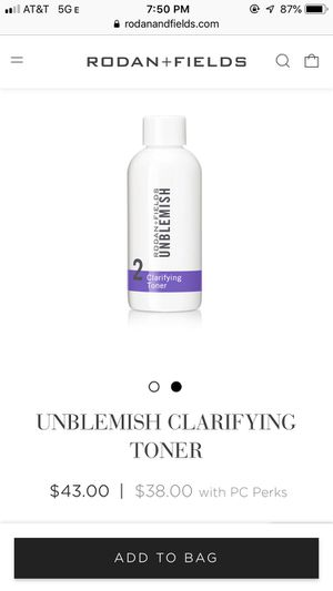 Rodan and fields unblemish toner for Sale in Fort Lauderdale, FL