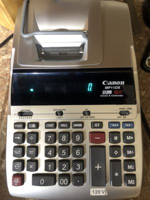 Canon MP11DX Heavy Duty Desktop Printing Calculator 12 Digits 2 Color AC Cord. for Sale in Frisco, TX