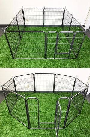 "New in box $85 Heavy Duty 32"" Tall x 32"" Wide x 8-Panel Pet Playpen Dog Crate Kennel Exercise Cage Fence for Sale in Whittier, CA"