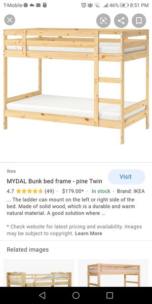 Bunk bed frame plus 2 twin mattress foam I paid $565 for Sale in Biscayne Park, FL