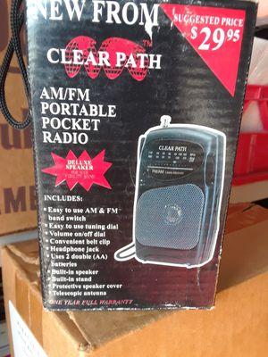 Vintage Clear Path Am/FM Pocket Radio. Original Box. for Sale in Houston, TX