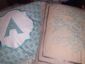 large embroidered pillows for Sale in Macon, GA