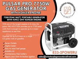 Pulsar 7750 watt Generator * liquidation* for Sale in Oldsmar, FL
