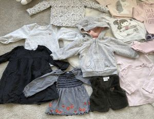 🍭 tons of Baby Girl clothes onesies dress footed PJ pajama hat socks sweater pants preemie nb newborn 3 6 9 months 🍭 for Sale in San Diego, CA
