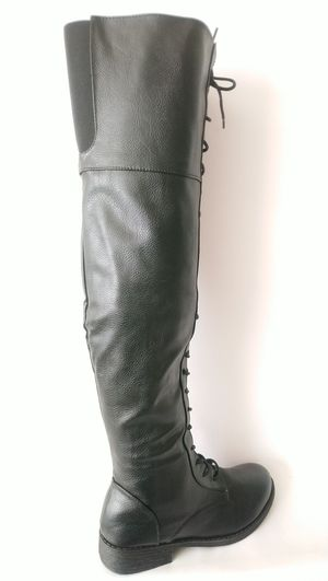 Bamboo Jagger-04 Women's Black Thigh High Flat Lace Up Boots Size 9 for Sale in Silver Spring, MD