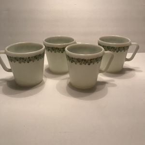 4 Vintage Pyrex Coffee Mugs Spring Blossom for Sale in Gainesville, FL