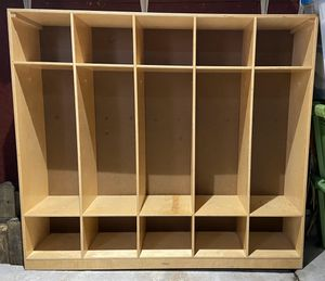 Wooden storage organizational shelving unit for Sale in Columbia, MO
