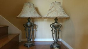 Pair of Ornate Brass Table Lamps for Sale in Houston, TX
